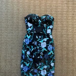 By the way. Embroidered floral midi dress